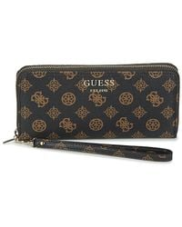 Guess VIKKY SLG LARGE ZIP AROUND Portefeuille - Marron