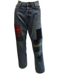 Teddy Smith KATE HW PATCH Jeans - Bleu