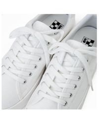 No Name Plato Sneakers Canvas White Baskets - Blanc