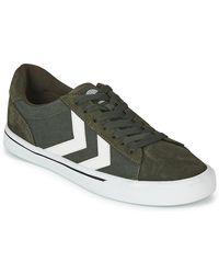 Hummel Lage Sneakers Nile Canvas Low - Groen