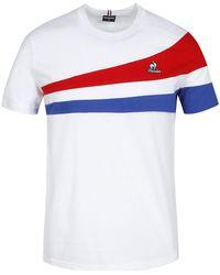Le Coq Sportif Tricolore Tee SS N°1 T-shirt - Blanc
