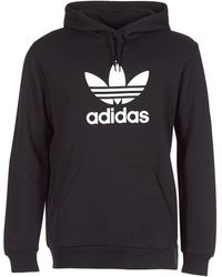 adidas Sweater Trefoil Hoodie - Zwart