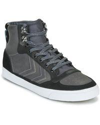 Hummel Hoge Sneakers Stadil Winter - Zwart
