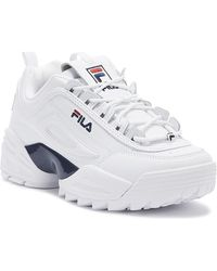 Fila Disruptor Ii Lab Mens White / Navy / Red Trainers
