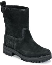 Timberland - Courmayeur Valley Mid Women's High Boots In Black - Lyst