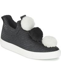 Minna Parikka Lage Sneakers Pom Pom - Zwart