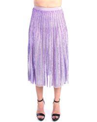 Elisabetta Franchi GR24J11E2 Midi Femme Lavande Jupes - Violet