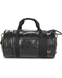 Fred Perry Sporttas Tonal Barrel Bag - Zwart