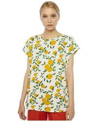 Compañía Fantástica Camiseta Blanca Estampado Naranjas de - Blanco