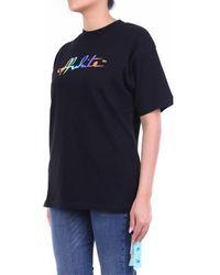 Off-White c/o Virgil Abloh T-shirt Korte Mouw Owaa072f20jer001 - Zwart