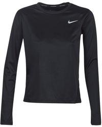 Nike Miler - Top Met Lange Mouwen - Zwart