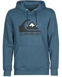 Quiksilver Sweater Comp Logo Screen - Blauw