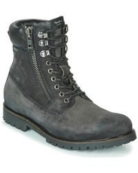 Pepe Jeans Melting Woodland Mid Boots - Grey