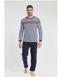 Armor Lux Pyjama jogging - coton Pyjamas / Chemises de nuit - Bleu