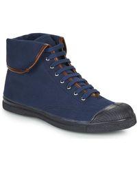 Bensimon Hoge Sneakers Tennis Steffi - Blauw