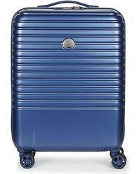 Delsey CAUMARTIN PLUS VALISE TROLLEY CABINE SLIM 4 DOUBLES ROUES 55 CM - Azul