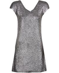 Benetton - Ghaki Women's Dress In Silver - Lyst