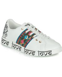 Desigual Lage Sneakers Cosmic Exotic Indian - Wit