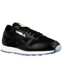 1de4f5c15 Reebok - Cl Leather Bf Men's Shoes (trainers) In Black - Lyst