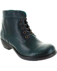 Fly London - Mesu Women's Mid Boots In Green - Lyst
