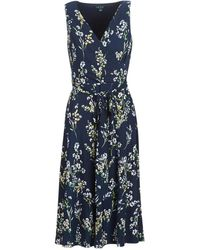 Lauren by Ralph Lauren FLORAL PRINT-SLEEVELESS-DAY DRESS - Azul