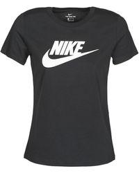 Nike T-shirt Korte Mouw Sportswear - Zwart
