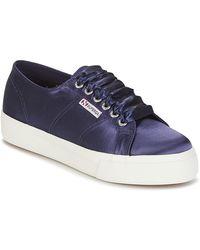 Superga Lage Sneakers 2730 Satin W - Blauw