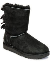 UGG Bailey Bow II Black Twinface Boots - Negro
