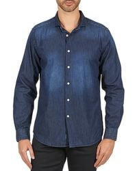 Façonnable - Castiol Men's Long Sleeved Shirt In Blue - Lyst
