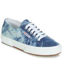 Superga Lage Sneakers 2750 Tie Dye Denim - Blauw
