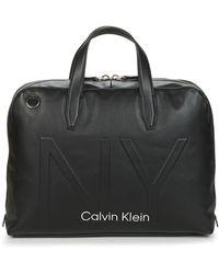 Calvin Klein Aktetas Shaped Laptop Bag - Zwart