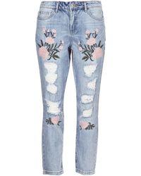 ONLY - Tonni Women's Boyfriend Jeans In Blue - Lyst