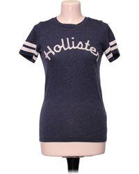Hollister Top manches courtes - S Blouses - Bleu