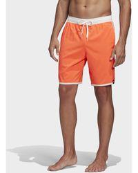 adidas Badeshorts 3-Streifen CLX Badeshorts - Orange