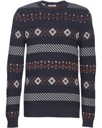 SELECTED - Slhnewmonrad Men's Sweater In Blue - Lyst