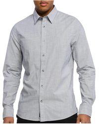 Calvin Klein Overhemd Lange Mouw - Grijs