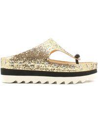 Luca Stefani - 580330 Flip Flops Women Platino Women's Flip Flops / Sandals (shoes) In Grey - Lyst