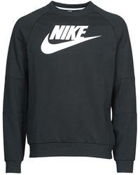 Nike Felpa M Nsw Modern Crw Flc Hbr - Nero