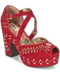 Miss L'Fire | Selina Women's Sandals In Red | Lyst