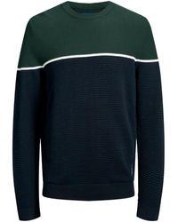 Jack & Jones Jack Jones 12159079 Brit Knitwear Men Green Jumper - Blue