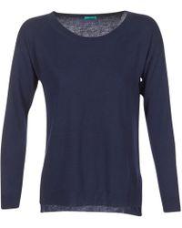 Benetton - Mozad Women's Sweater In Blue - Lyst