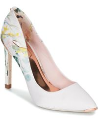 277571a030b Ted Baker - Melnip Women s Court Shoes In White - Lyst