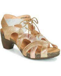 Think! - Svelta Women's Sandals In Gold - Lyst