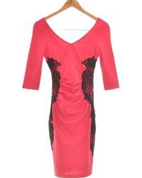 Lipsy Robe Courte 34 - T0 - Xs Robe - Rose