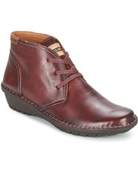 Pikolinos - Wabana W7d Women's Mid Boots In Red - Lyst