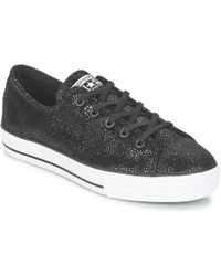 Converse | Chuck Taylor All Star Shroud Cuir Ox Women's Shoes (trainers) In Black | Lyst