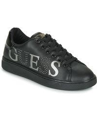 Guess Lage Sneakers Fl5rid-ele12-black - Zwart