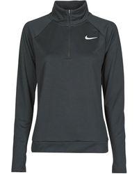 Nike T-shirt Lange Mouw W Nk Pacer Hz - Zwart