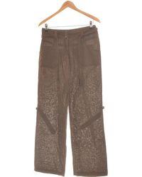 H&M Pantalon Bootcut Femme 34 - T0 - Xs Pantalon - Marron