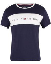 Tommy Hilfiger - Lounge Logo Flag T Shirt - Lyst